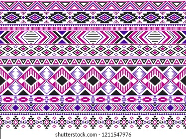 Sacral tribal ethnic motifs geometric vector background. Graphic geometric shapes sprites tribal motifs clothing fabric textile print traditional design with triangles