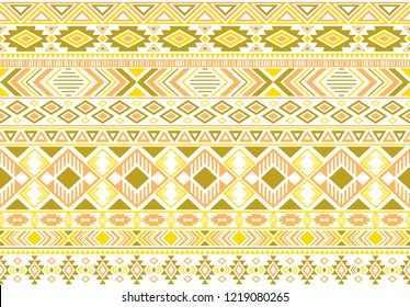 Sacral tribal ethnic motifs geometric seamless background. Modern gypsy tribal motifs clothing fabric textile print traditional design with triangles