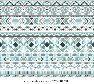 Sacral tribal ethnic motifs geometric seamless background. Unusual gypsy tribal motifs clothing fabric textile print traditional design with triangles