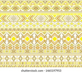 Sacral tribal ethnic motifs geometric seamless background. Cute gypsy tribal motifs clothing fabric textile print traditional design with triangles