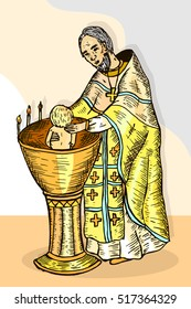 Priest Drawing Images, Stock Photos & Vectors | Shutterstock