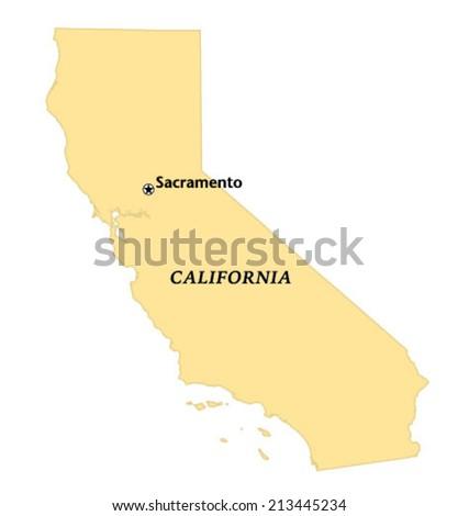 Sacramento California Locate Map Stock Vector Royalty Free