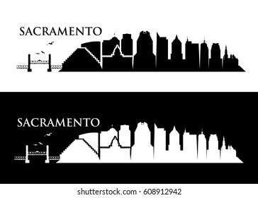 Sacramento skyline - California - vector illustration