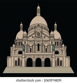 sacre coeur basilica vector