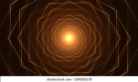 Sacred geometry, abstract flower background. Vector digital graphic design.