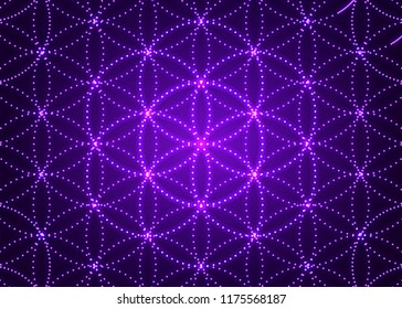 Sacred geometry, abstract flower background. Vector digital graphic design