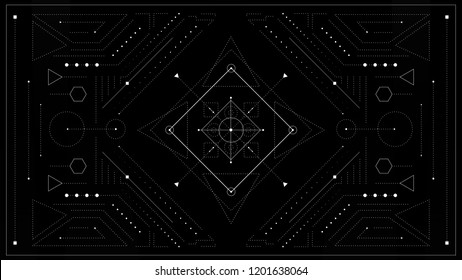 Sacred Geometry Background. Vector illustration