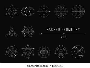 Sacred Geometry Bundle. Vector Illustration