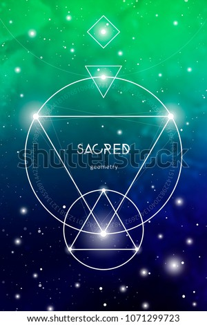 Sacred Geometry Design Template Golden Ratio Stock Vector (Royalty