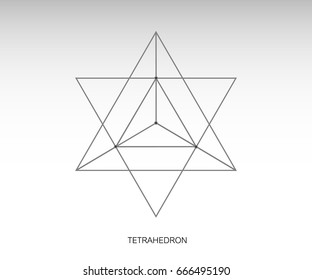 Merkaba images stock photos vectors shutterstock sacred geometry merkaba thin line geometric triangle shape esoteric or spiritual symbol isolated ccuart Images