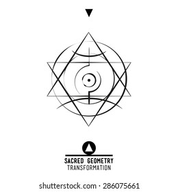 Sacred geometry set of trendy vector Alchemy symbols collection on grunge background. Religion, philosophy, spirituality, occultism, science, magic. Design and tattoo elements.Vector illustration.
