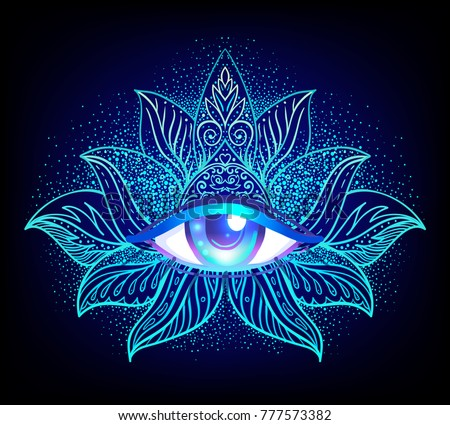 sacred geometry symbol all seeing eye stock vector royalty free