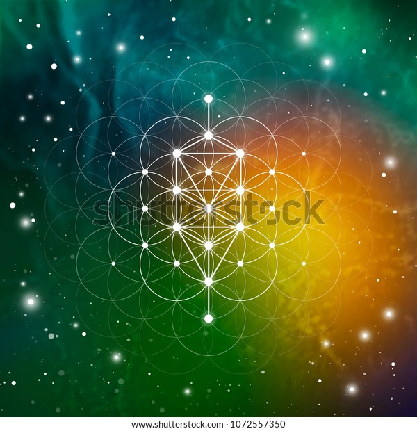 Sacred Geometry Tree Life Ancient Symbol Stock Vector (Royalty Free