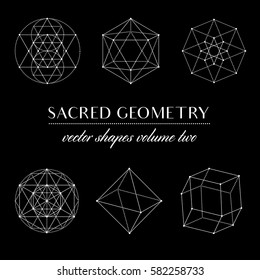 Sacred Geometry Volume Two - Set of Sacred Geometry Art. Geometric Vector Art