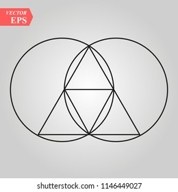 Sacred geometry - zen minimalism - vesca piscis -pointed oval figure used as an architectural feature and as an aureole enclosing figures such as Christ or the Virgin Mary in medieval art.