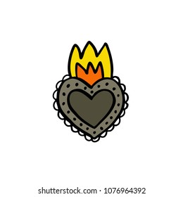 sacred heart doodle icon