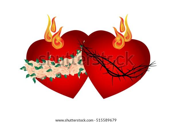 sacred heart jesus christ immaculate 600w 515589679