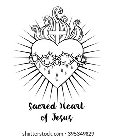 Sacred Jesus Heart Stock Illustrations Images Vectors
