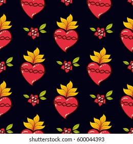 Sacred Heart print old schooll style.