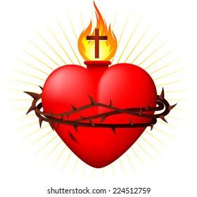 Sacred heart vector illustration