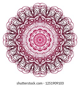 Sacred oriental mandala. color floral ornament. Abstract shapes in Asian style. Vector Illustratio.