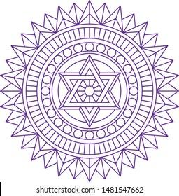 Sacred symbol in alchemy masonic