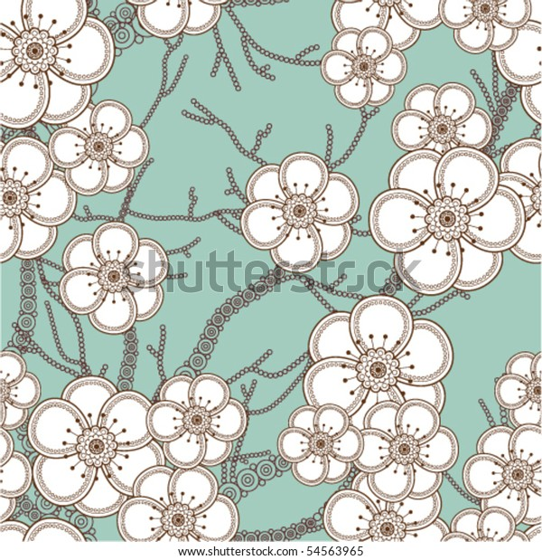 Sacura seamless pattern