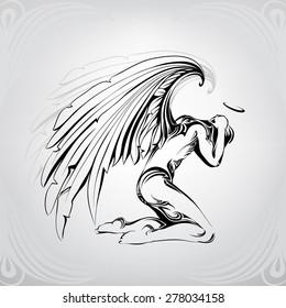 Archangel Sketch Images Stock Photos Vectors Shutterstock