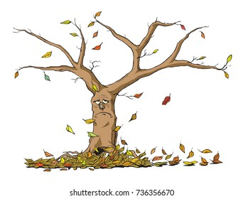 Cartoon Leaves Falling High Res Stock Images Shutterstock Beautiful autumn tree with fall leafs. https www shutterstock com image vector sad autumn tree 736356670