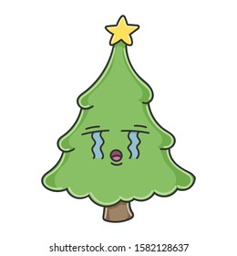 Emoticon Tree Christmas Clip Art Images Stock Photos Vectors Shutterstock Christmas tree background empty display and christmas tree display. https www shutterstock com image vector sad crying christmas tree cartoon character 1582128637