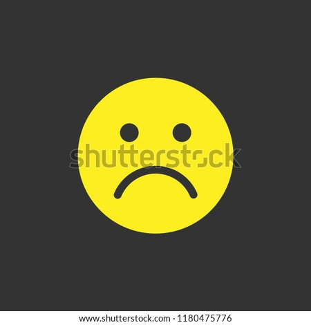 sad face emoji vector icon.cry, angry, emotion, sadness, unhappy, depression, emotions isolated symbol for web and mobile app - Vector