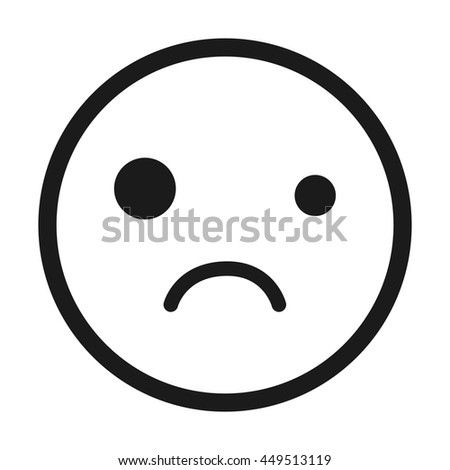 Sad Face Emoticon Isolated Icon Design Stock Vector Royalty Free