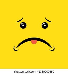 sad face vector illustration