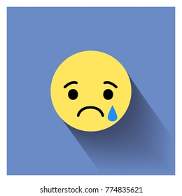 Sad face. Vector illustration sad icon. Sad face symbol. Sad icon. Triste emotion.
