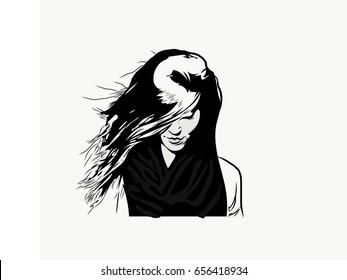 Sad Girl Sketch Images Stock Photos Vectors Shutterstock