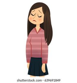 sad girl closed eyes
