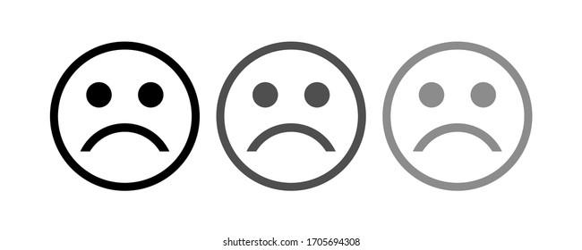 sad icon stock vector illustration flat design.