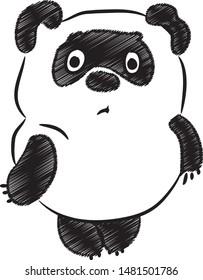 Sad plush stupid fat Winnie-the-Pooh