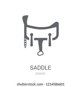 Saddle icon. Trendy Saddle logo concept on white background from Desert collection. Suitable for use on web apps, mobile apps and print media.
