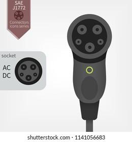 SAE J1772 USA and Japan charger standart
