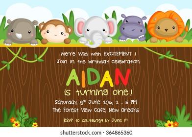 Safari Animal Card
