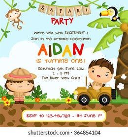 Safari Forest Birthday Invitation