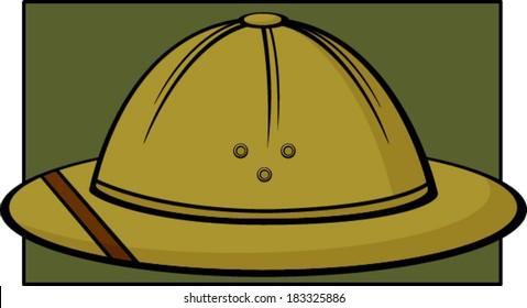 safari hat or pith helmet