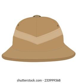 Safari hat, pith helmet, safari hat isolated, head ware