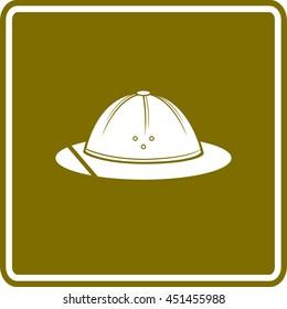 safari hat or pith helmet sign