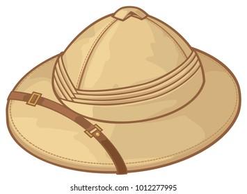 safari hat vector illustration (pith helmet)