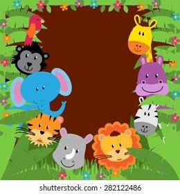Safari, Jungle or Zoo Themed Animal Background