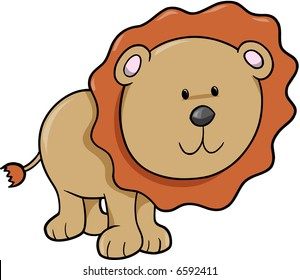Safari Lion Vector Illustration