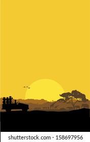 Safari tour, vector
