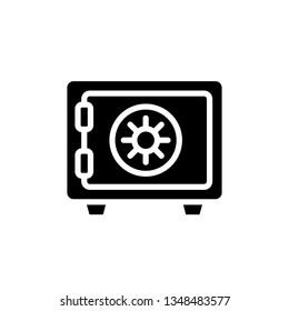 Safe Box Icon Vector Illustration Logo Template